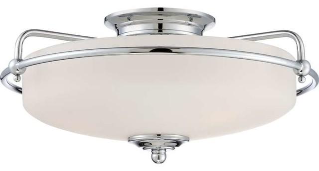 Quoizel Lighting GF1617C Griffin Flush Mount Ceiling Light In Polished chrome - Modern ...