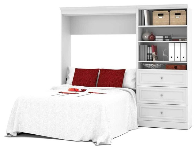 Wall Bed In White Contemporary Murphy Beds By Shopladder