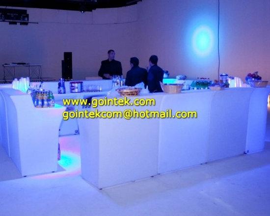 Illuminated LED bar counter for bar -