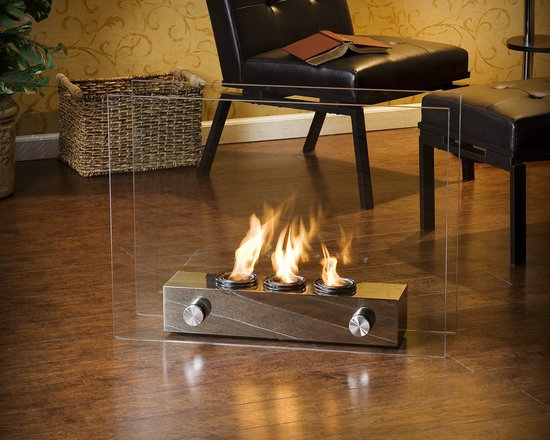 """Holly & Martin™ Hudson Portable Indoor Outdoor Gel Fireplace - Dimensions: 32"""" W x 9.25"""" D x 24"""" H"""