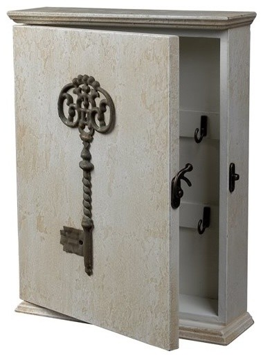 Key Box Distressed Country White - Industrial - Storage And Organization - milwaukee - by Home ...