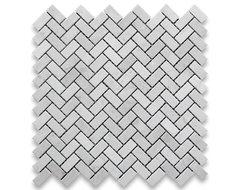 Crema Marfil 5/8 x 1 1/4 Herringbone Mosaic Tile Polished - Marble from Spain mosaic-tile