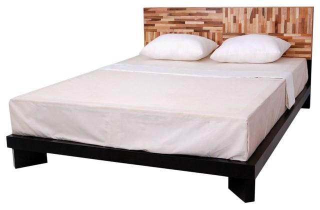 reclaimed wood platform bed modern platform beds grand rapids by woodland creek furniture. Black Bedroom Furniture Sets. Home Design Ideas