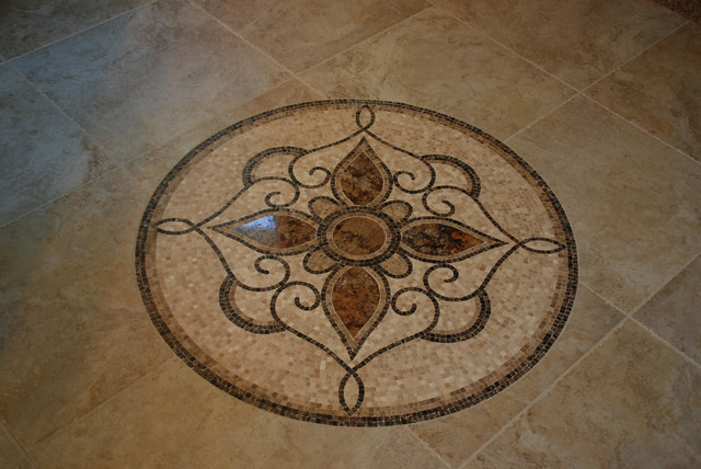 Tile Floor Medallion Mediterranean Cleveland By