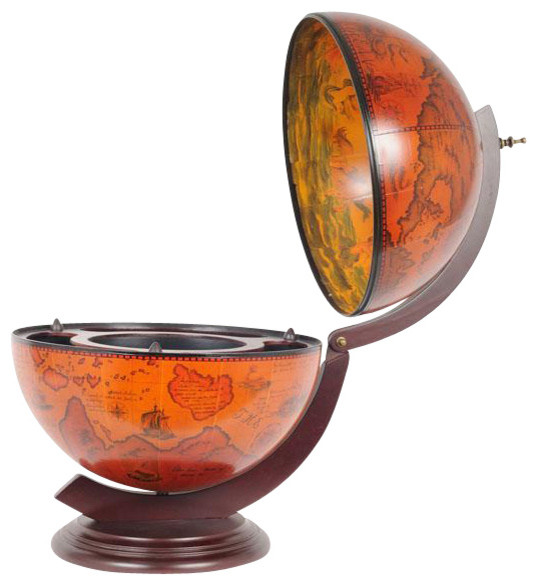 New 16-Inch Drink Cabinet Globe OM-165 - Traditional - Storage Cabinets - by EuroLuxHome
