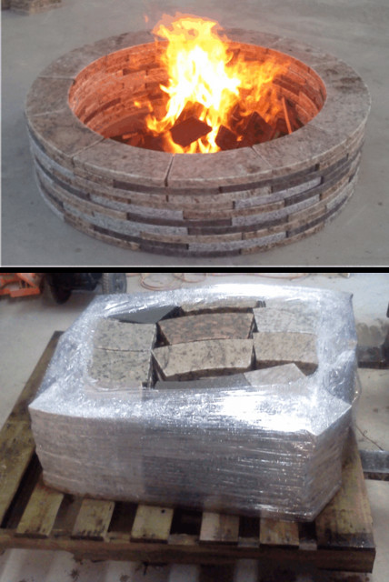Recycled Granite Firepit fire-pits