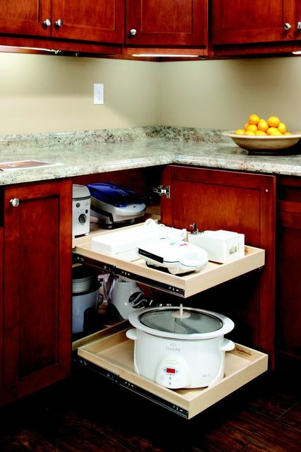 Pull Out Blind Corner Solution contemporary-kitchen-drawer-organizers