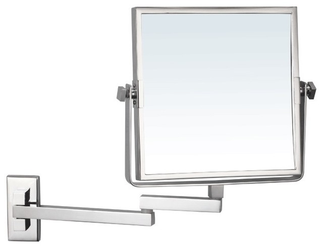 Wall Mounted Double Face Magnifying Mirror - Contemporary - Makeup Mirrors - by TheBathOutlet