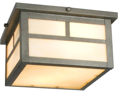 Craftsman outdoor flush mount modern outdoor flush for Modern craftsman lighting
