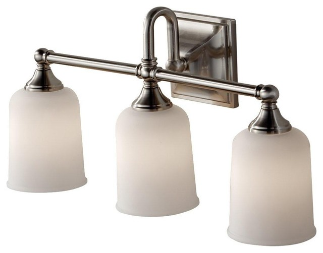 Vanity Lights Bulbs : Murray Feiss Harvard 3 Bulb Brushed Steel Vanity Strip VS27003-BS - Contemporary - Bathroom ...