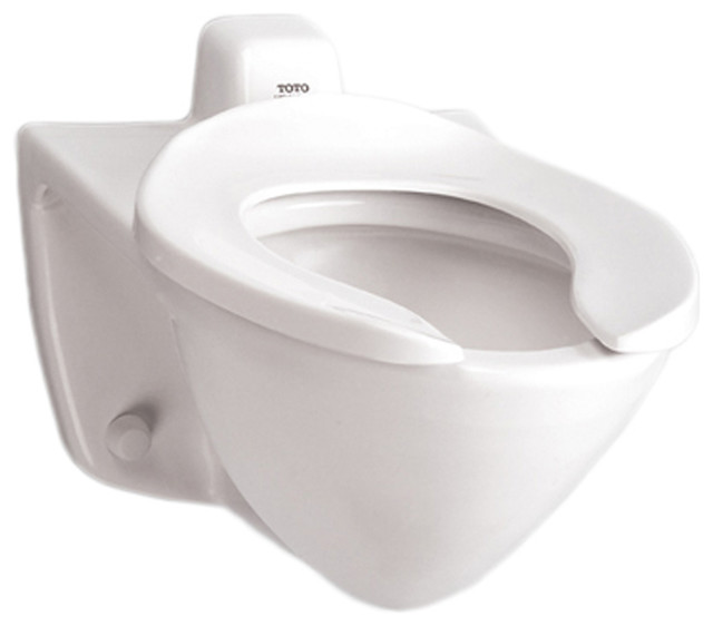 Toto CT708EV#01 Cotton White Commercial Flushometer Toilet Bowl, 1.28 ...