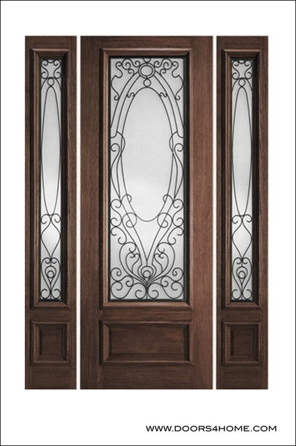 Ir iron insulated entry doors model 735 mediterranean for Insulated entry door