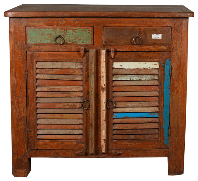 Rustic reclaimed wood standing kitchen utility cabinet rustic buffets