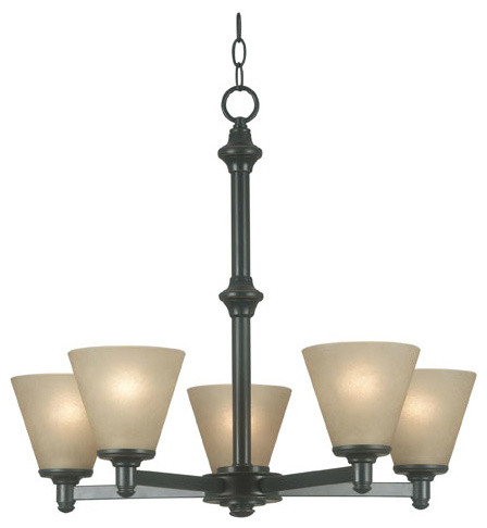 Tallow Bronze Patina Five-Light Chandelier modern-chandeliers