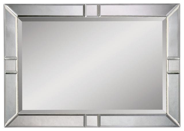 Polished Silver Frameless Oval Wall Mirror Ebay Bathroom