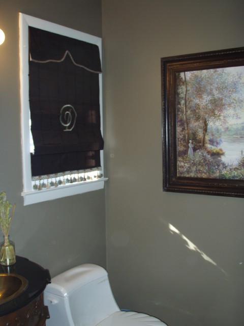 Window Treatments w/ Roman Shades eclectic