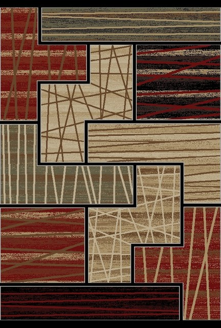 Multi-Color Contemporary Abstract Design Area Rug contemporary-area-rugs
