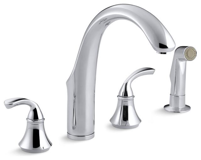Kohler Forte Widespread Kitchen Faucet contemporary-kitchen-faucets