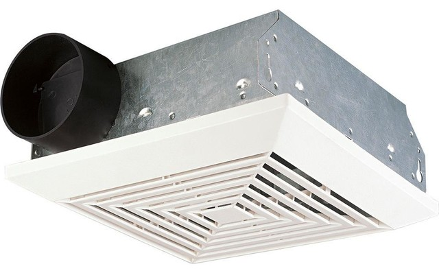 Progress Lighting Exhaust Fans 50 Cfm Ceiling Or Wall Exhaust Fan Whites Contemporary Home