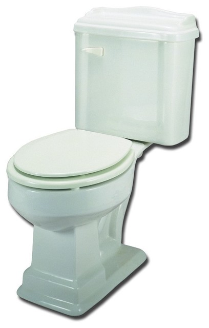 Elizabethan Classics ETRFWH Round. 2PC Toilet in White traditional toilets