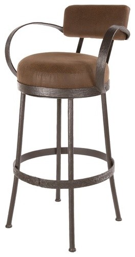 """Cedarvale 25"""" Swivel Counter Height Barstool with Brown Seat modern-bar-stools-and-counter-stools"""