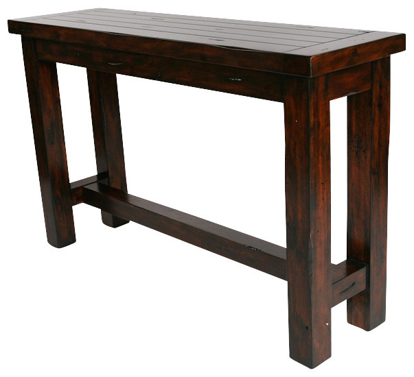 Hard Wood Consoletable Rustic Console Tables By Rare