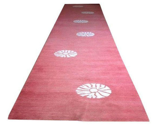 Madeline Weinrib Coral Carpet Runner - $1,650 Est. Retail - $800 on Chairish.com -