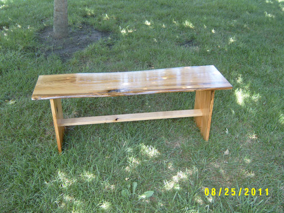Wooden bench by wayne 39 s woodworking traditional - Wooden benches for outside ...