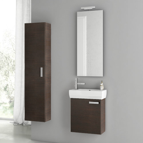 18 Inch Utility Sink With Cabinet : 18 Inch Wenge Bathroom Vanity Set contemporary-bathroom-vanities-and ...