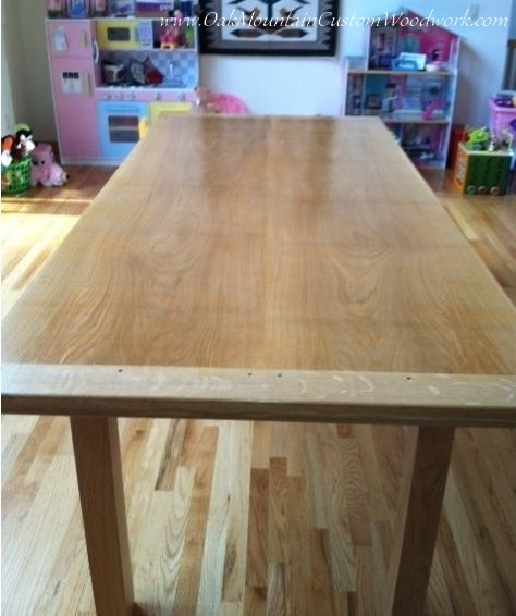 Large Custom Fold Out Dining Table Made From Reclaimed Wood On Client
