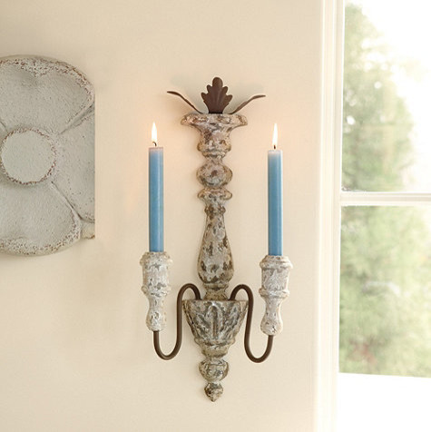 Traditional Wall Sconces With Candles : Turenne Candle Sconce - Traditional - Candles And Candleholders - by Ballard Designs