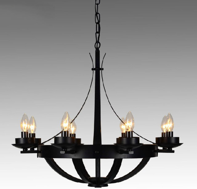 Post Modern Iron 8 Lights Chandelier Farmhouse