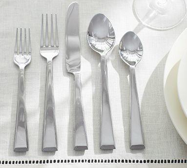 Caroline Flatware, 20-Piece Set, Silver finish traditional-flatware