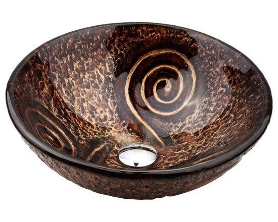 """Kraus GV-650-19mm Luna Glass Vessel Sink - APPLY COUPON CODE """"EDHOUZ20"""" AT CHECKOUT. JUST OUR WAY OF SAYING THANKS."""