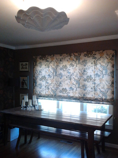 Smith and Noble Window Treatments eclectic-roman-shades