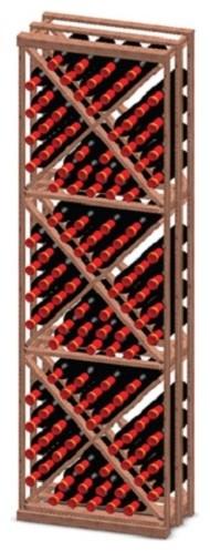 Vinotemp Rack-XBIN-PR Premium Redwood 132 Bottle X Shaped Wine Rack modern-wine-racks