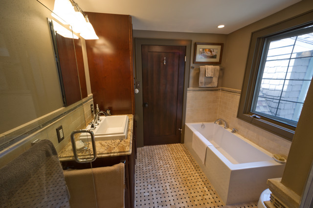 English cottage style home bathroom remodel for Bathroom remodel milwaukee