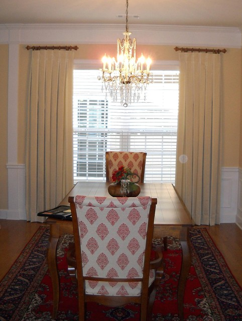 Window treatments contemporary dining room atlanta for Dining room window treatments