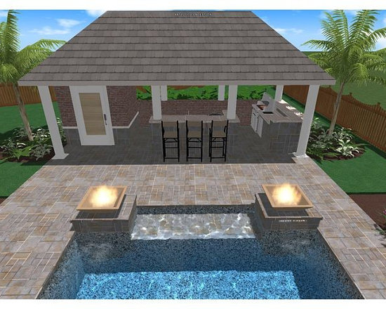 Fire Pit Gazebo Plans http://www.houzz.com/photos/pool/gazebo-/p/64