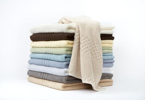 Soft Touch Egyptian Cotton 6-Piece Towel Set, Butter, Set of 2 Bath Sheets contemporary-towels