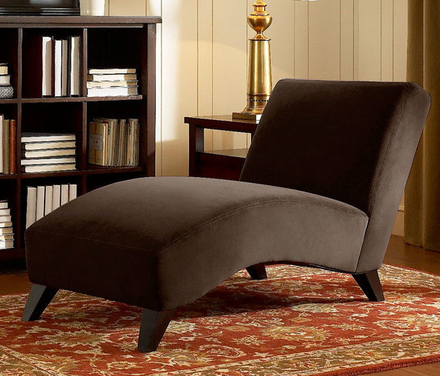 bella chaise dark brown contemporary by