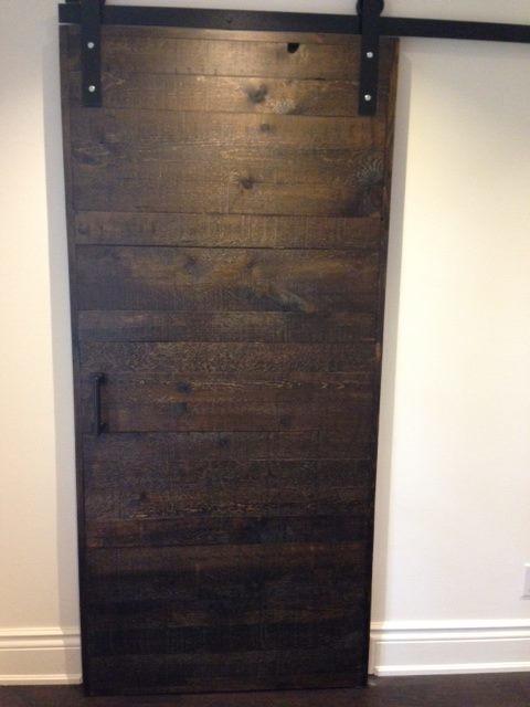 Walnut stained barn door - Contemporary - toronto - by REBARN
