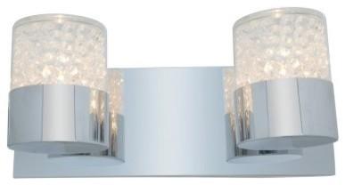 Access Lighting Kristal Bathroom Vanity Light - 13.5W in. Chrome modern-bathroom-lighting-and-vanity-lighting