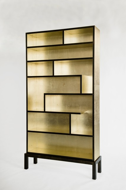 Bookshelf (Gold Leaf) - Modern - Bookcases - baltimore - by Harris ...