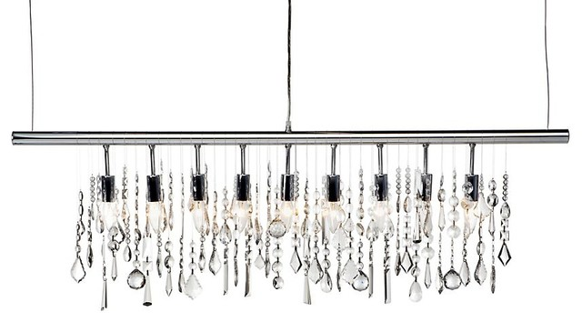 Linear Strand Crystal Chandelier contemporary chandeliers