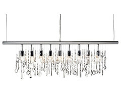 Linear Strand Crystal Chandelier contemporary-chandeliers
