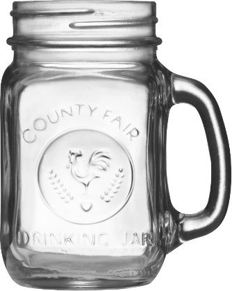 Libbey Country Fair 16-Ounce Drinking Jar with Handle eclectic glassware