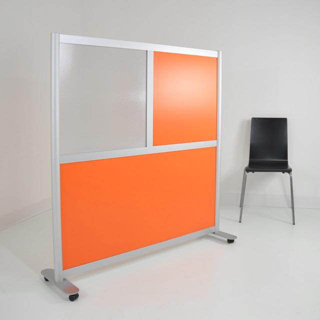 4 Low Height Modern Room Divider Orange amp Translucent