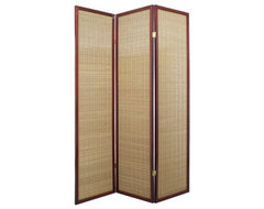 The simply elegant Serenity Shoji Room Divider in Walnut stands out with a subtl contemporary screens and wall dividers