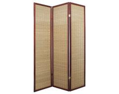 Serenity Walnut Shoji Screen Room Divider contemporary-screens-and-wall-dividers